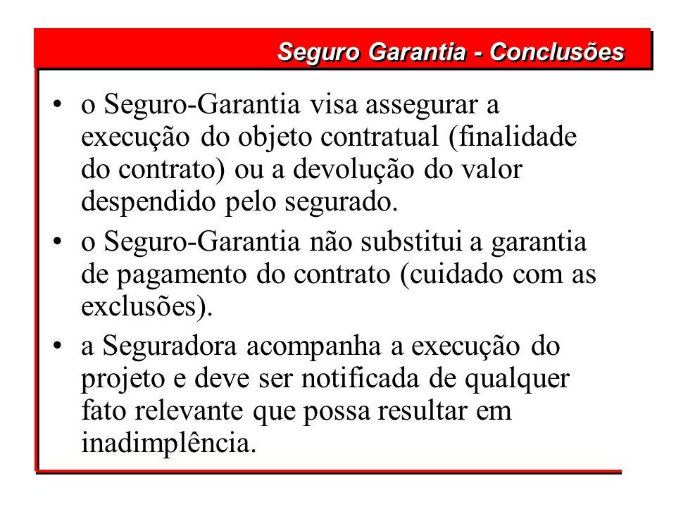 Seguro Garantia - Conclusões