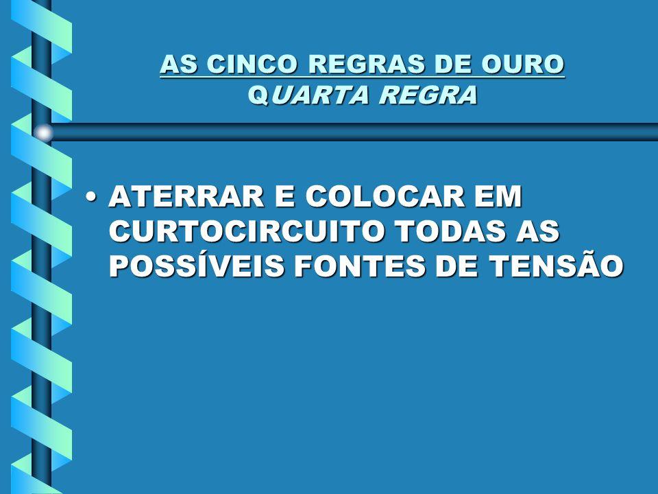 AS CINCO REGRAS DE OURO QUARTA REGRA