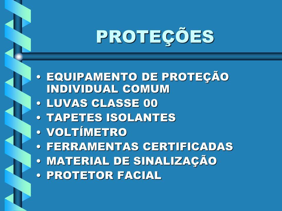 PROTEÇÕES EQUIPAMENTO DE PROTEÇÃO INDIVIDUAL COMUM LUVAS CLASSE 00