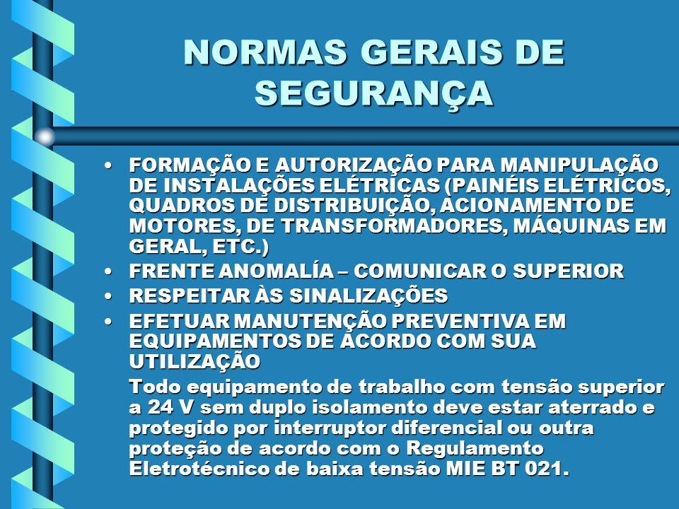 NORMAS GERAIS DE SEGURANÇA
