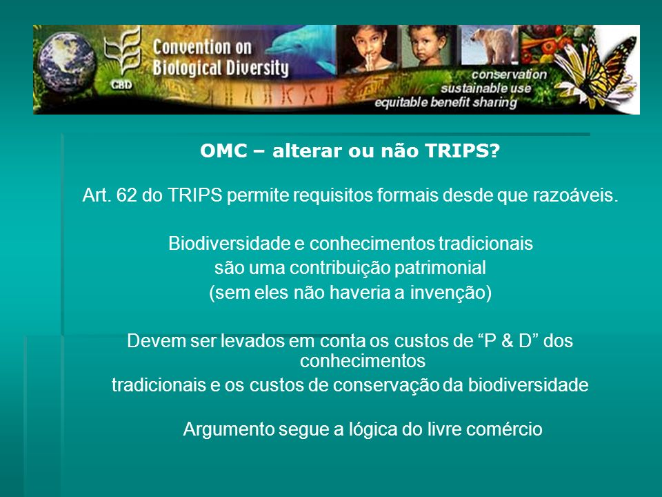 OMC – alterar ou não TRIPS