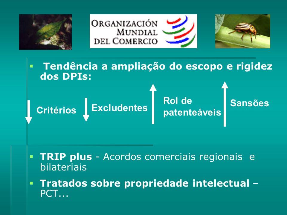 Tendência a ampliação do escopo e rigidez dos DPIs: