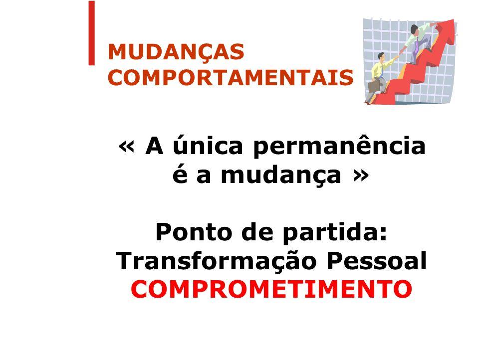 MUDANÇAS COMPORTAMENTAIS
