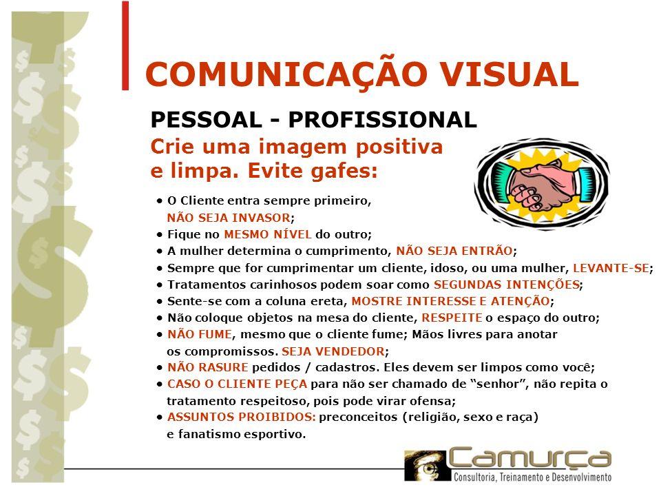 COMUNICAÇÃO VISUAL PESSOAL - PROFISSIONAL Crie uma imagem positiva