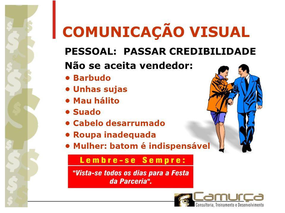 COMUNICAÇÃO VISUAL PESSOAL: PASSAR CREDIBILIDADE