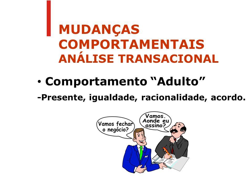 MUDANÇAS COMPORTAMENTAIS ANÁLISE TRANSACIONAL