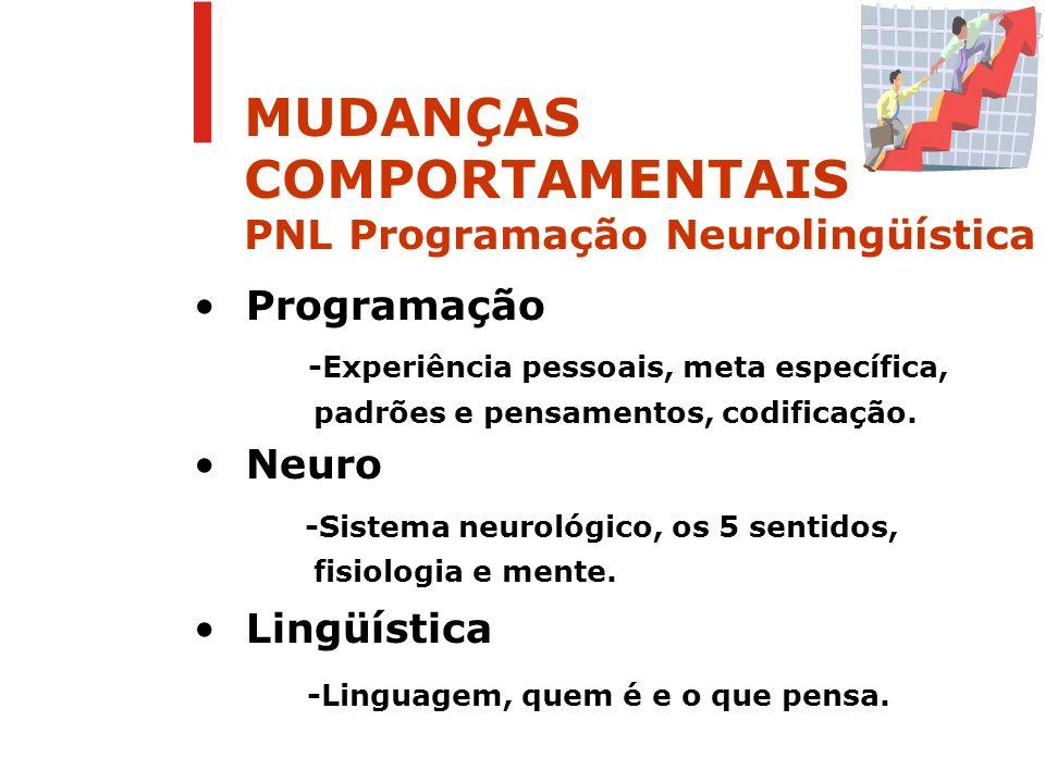 MUDANÇAS COMPORTAMENTAIS PNL Programação Neurolingüística