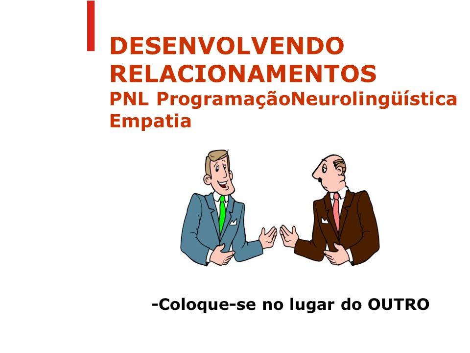 DESENVOLVENDO RELACIONAMENTOS PNL ProgramaçãoNeurolingüística Empatia