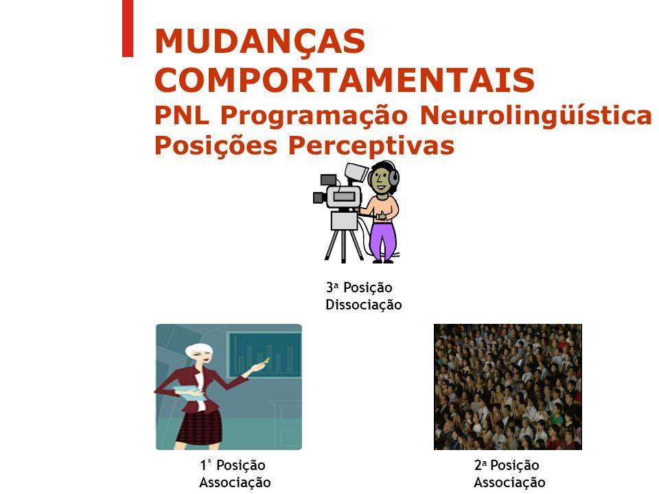MUDANÇAS COMPORTAMENTAIS PNL Programação Neurolingüística Posições Perceptivas