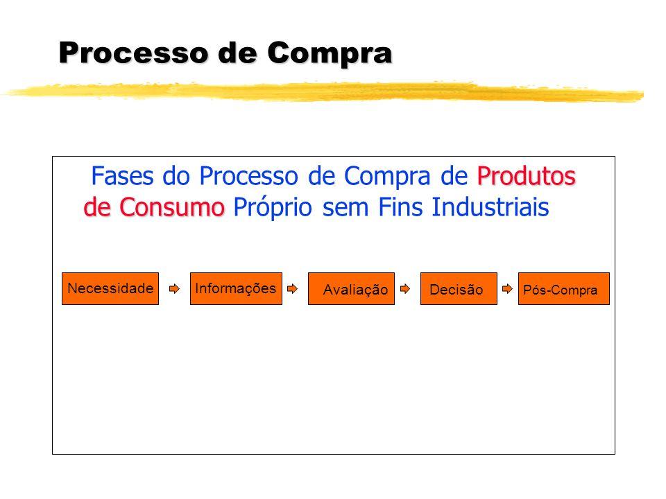 Processo de Compra Fases do Processo de Compra de Produtos de Consumo Próprio sem Fins Industriais.