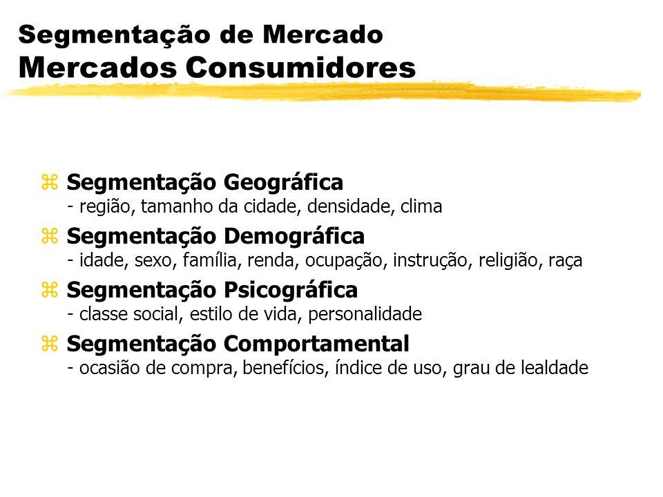 Segmentação de Mercado Mercados Consumidores