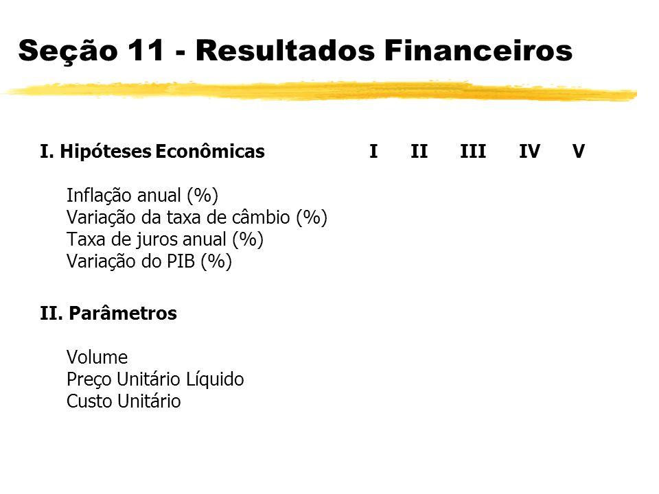 Seção 11 - Resultados Financeiros