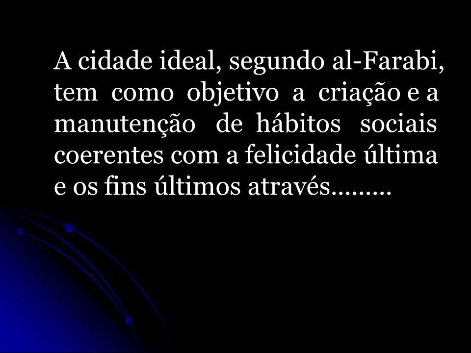 A cidade ideal, segundo al-Farabi,