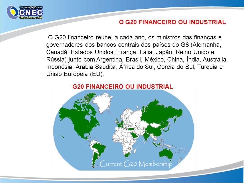 O G20 FINANCEIRO OU INDUSTRIAL G20 FINANCEIRO OU INDUSTRIAL
