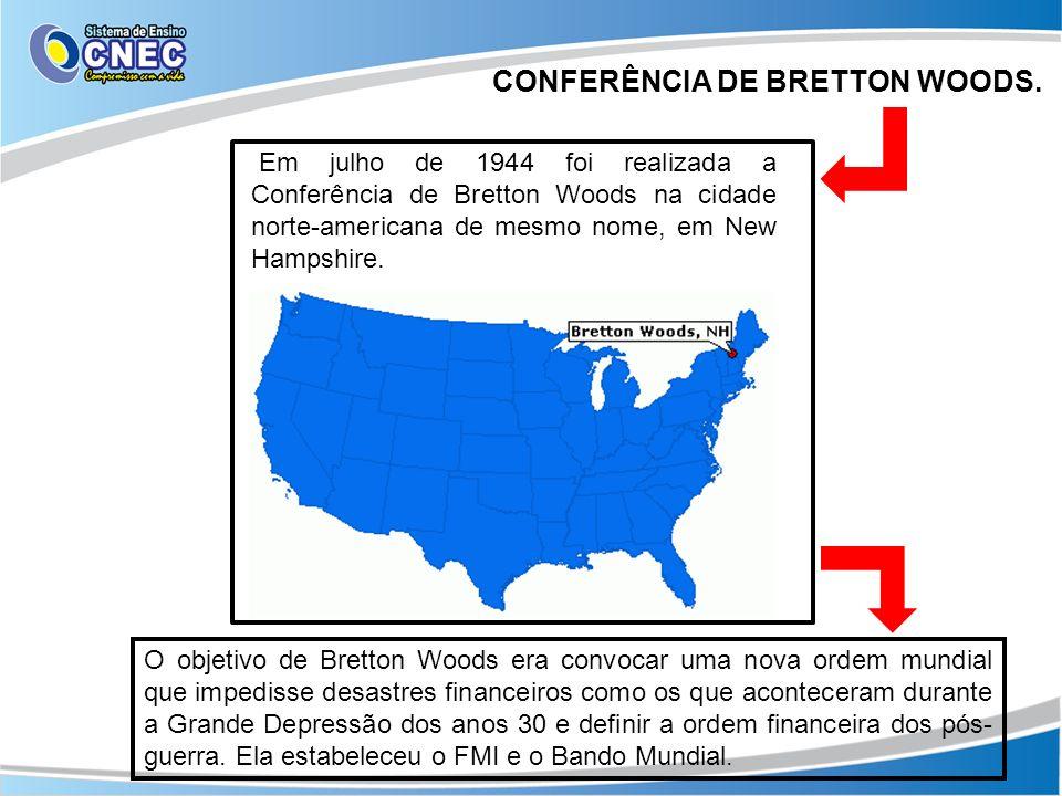 CONFERÊNCIA DE BRETTON WOODS.
