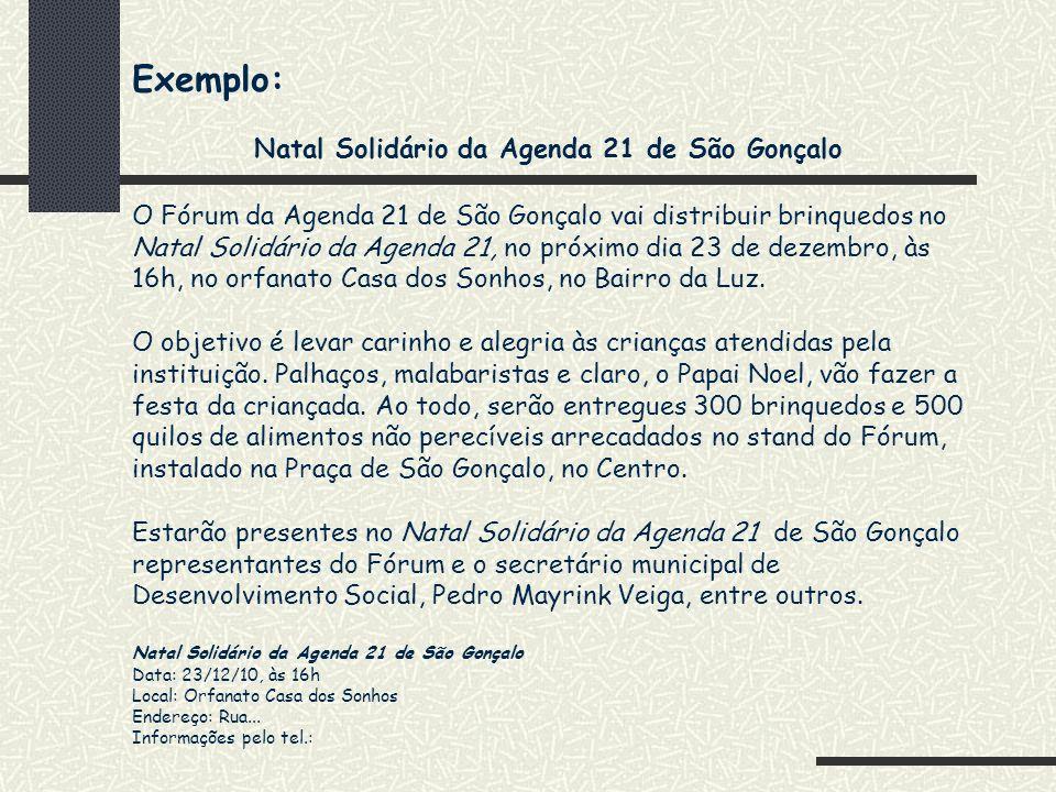Natal Solidário da Agenda 21 de São Gonçalo