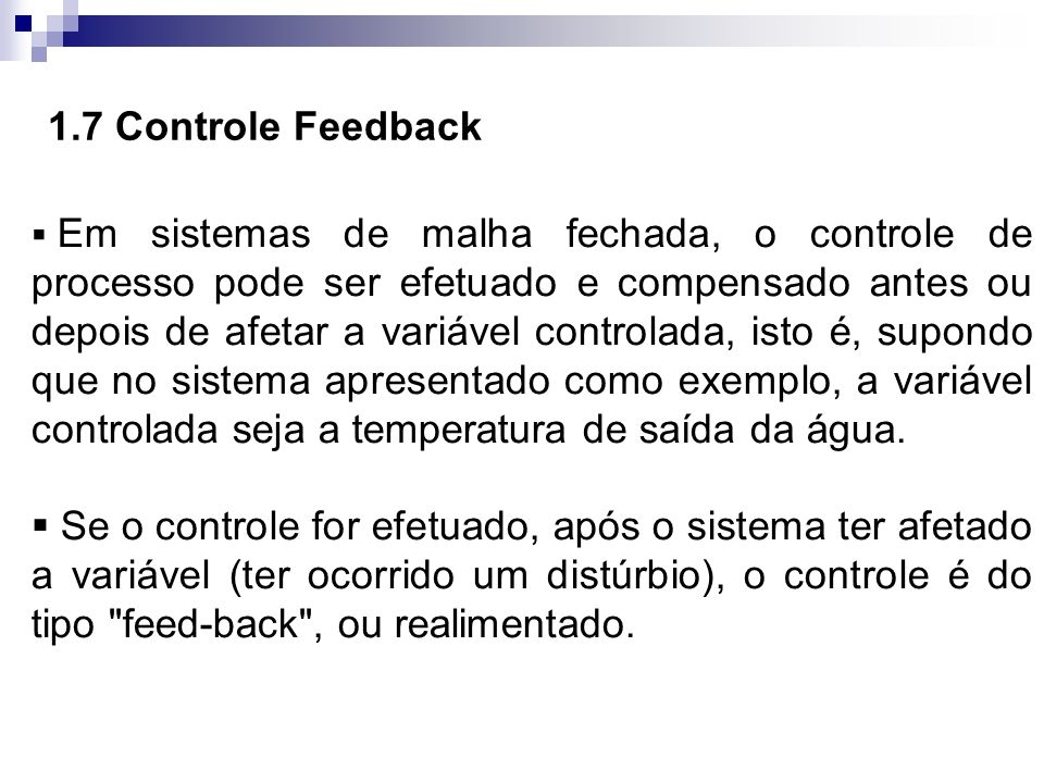 1.7 Controle Feedback