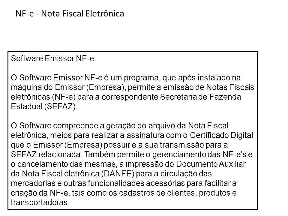 Nota Fiscal Eletronica - NF-e