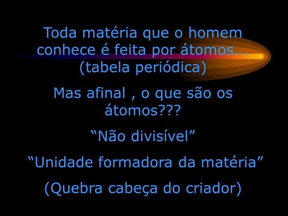 Mas afinal , o que são os átomos