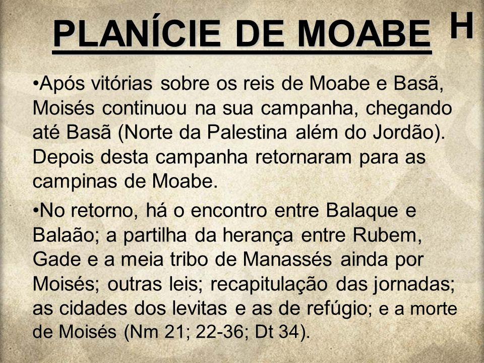 H PLANÍCIE DE MOABE.