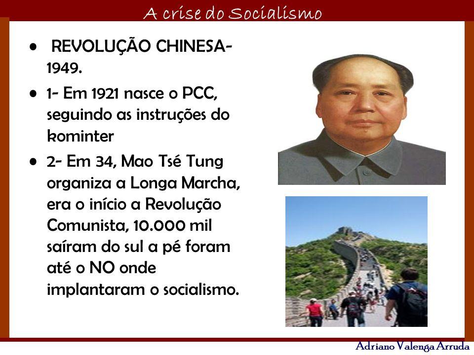 REVOLUÇÃO CHINESA-1949. 1- Em 1921 nasce o PCC, seguindo as instruções do kominter.