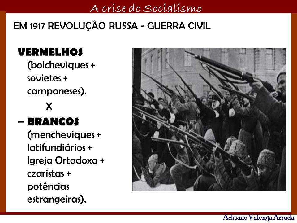 VERMELHOS (bolcheviques + sovietes + camponeses).