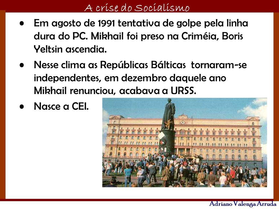 Em agosto de 1991 tentativa de golpe pela linha dura do PC