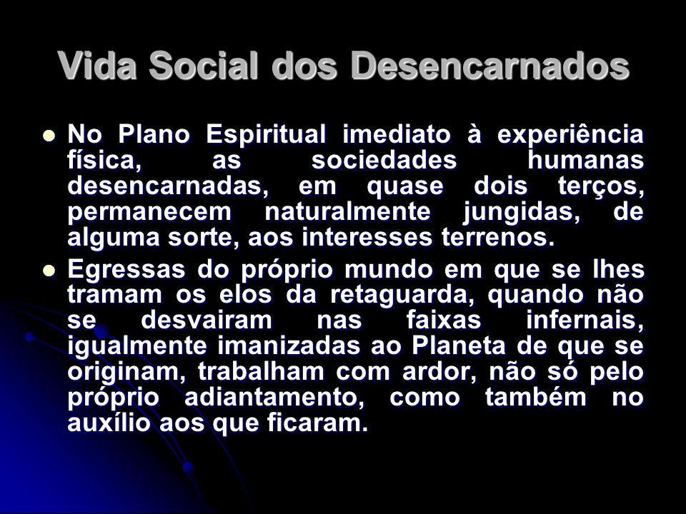 Vida Social dos Desencarnados