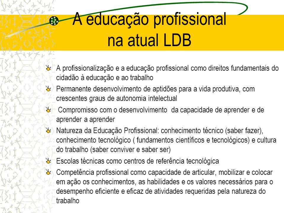 A educação profissional na atual LDB