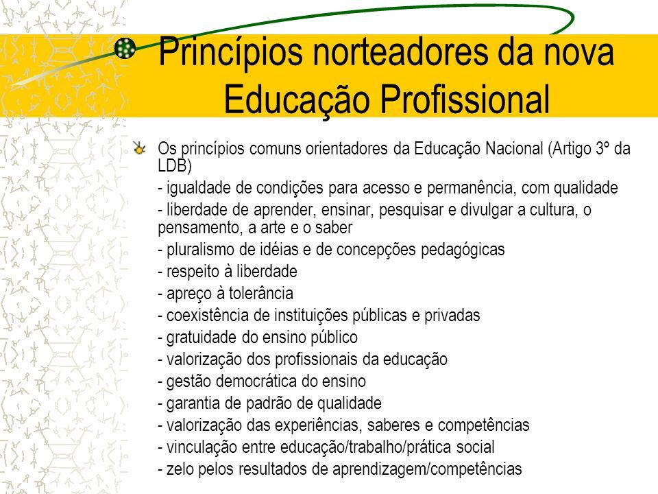 Princípios norteadores da nova Educação Profissional