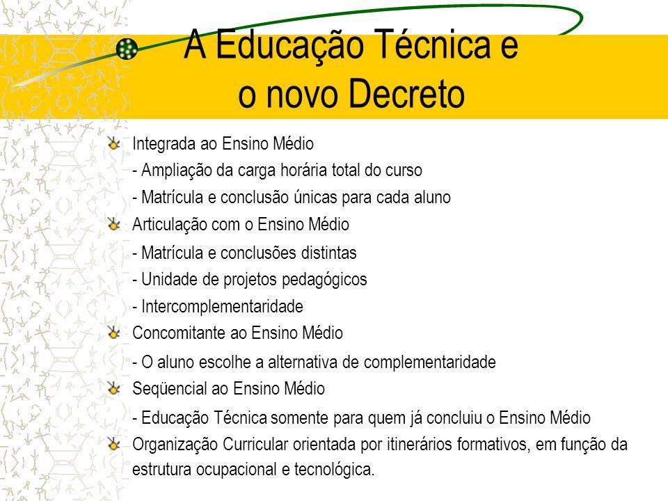 A Educação Técnica e o novo Decreto
