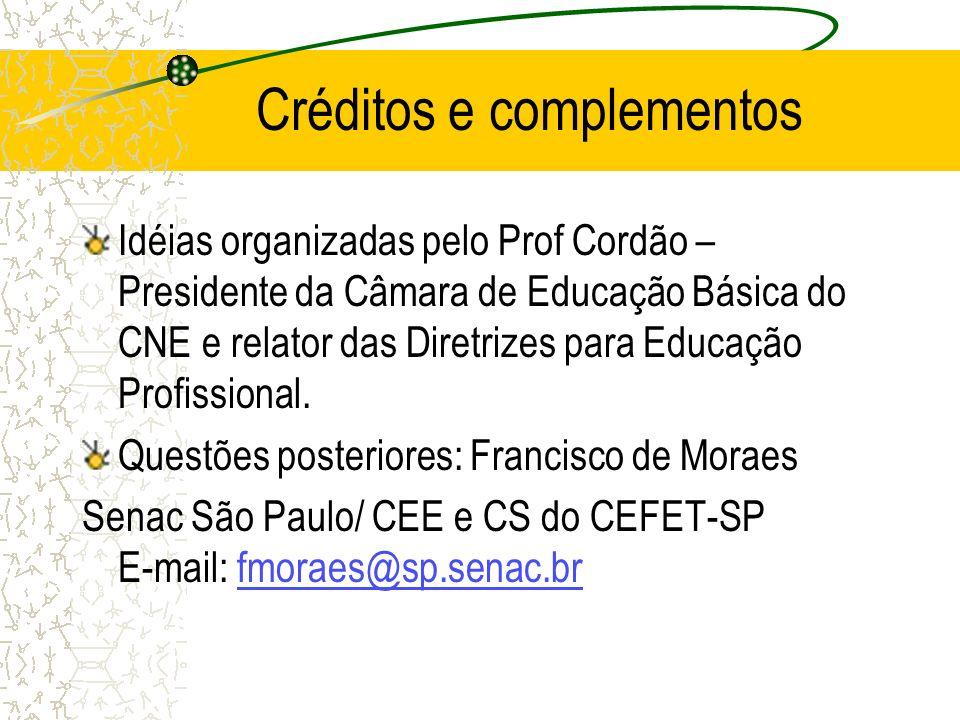 Créditos e complementos
