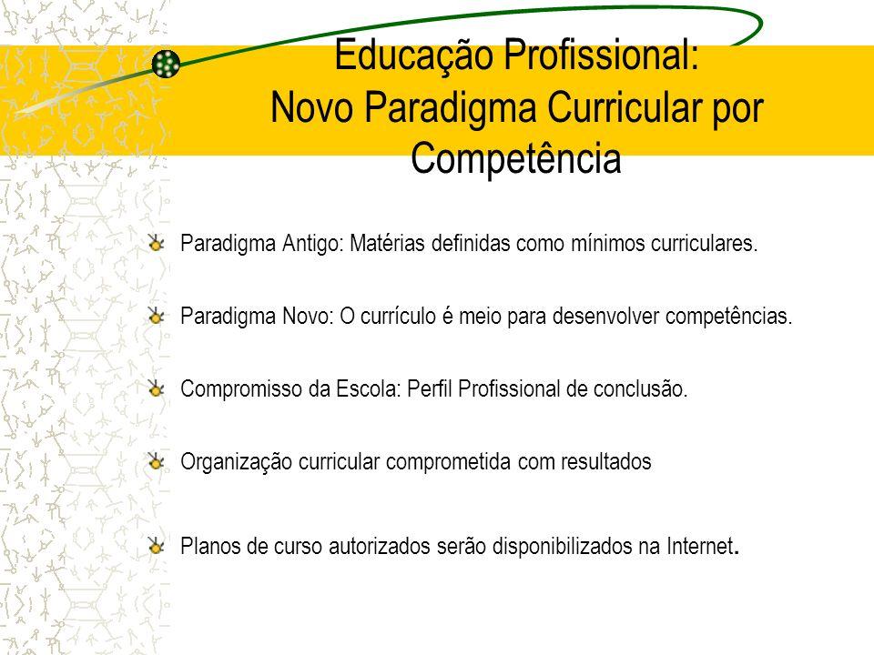 Educação Profissional: Novo Paradigma Curricular por Competência