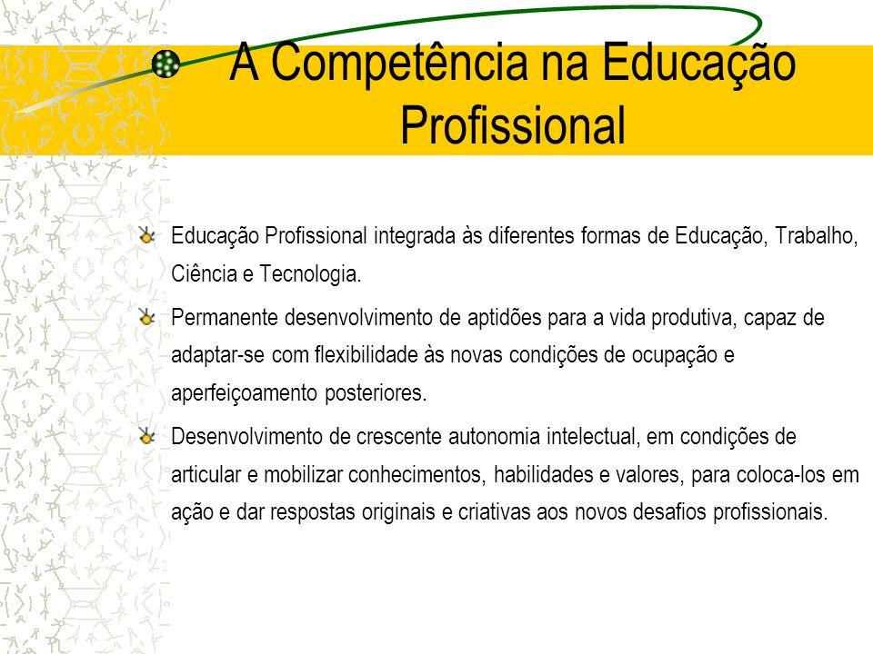 A Competência na Educação Profissional