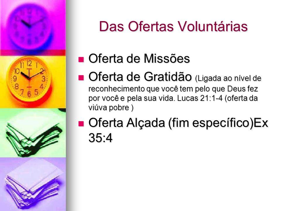Das Ofertas Voluntárias