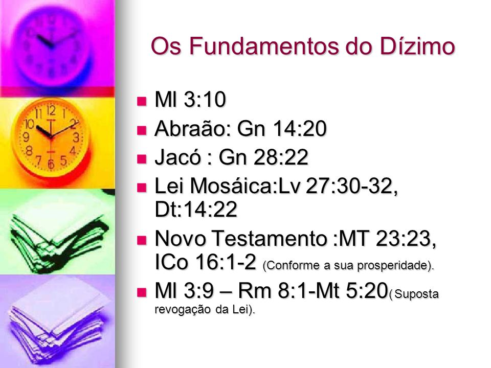 Os Fundamentos do Dízimo