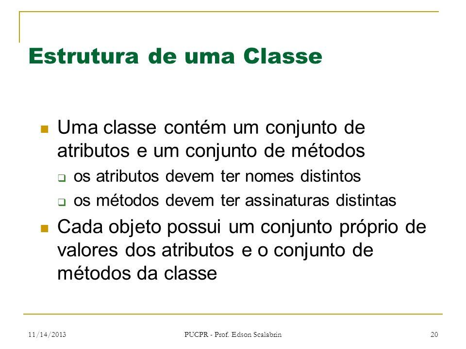 Estrutura de uma Classe