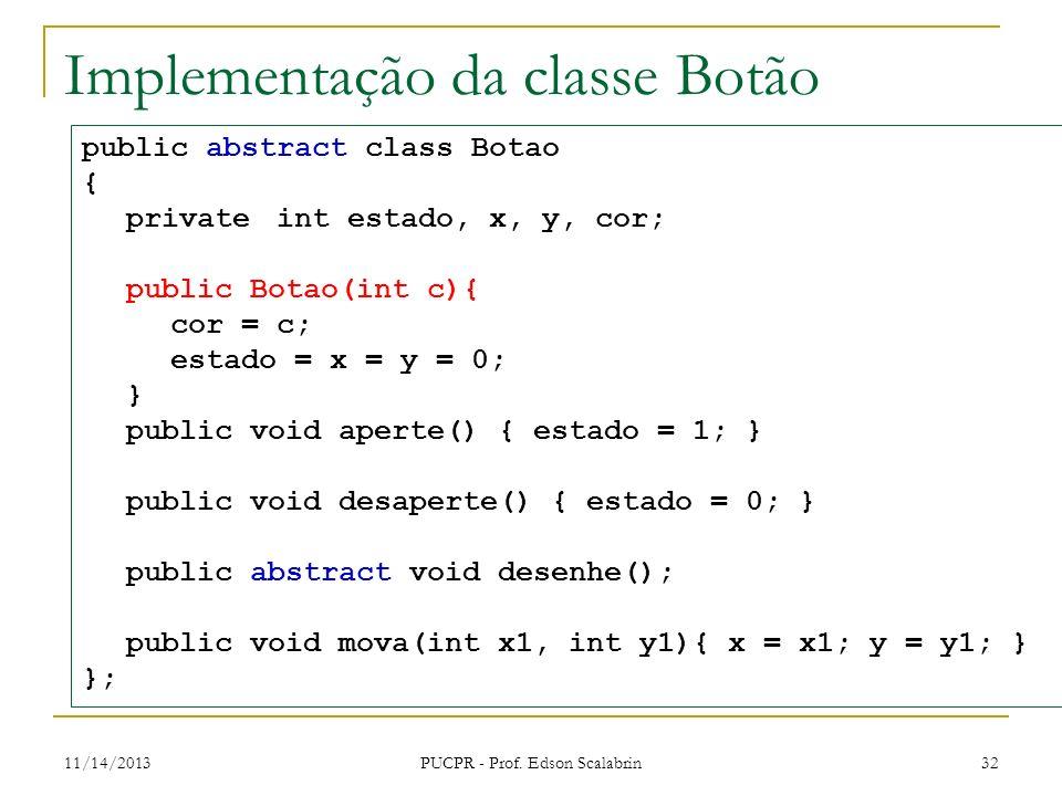 Implementação da classe Botão