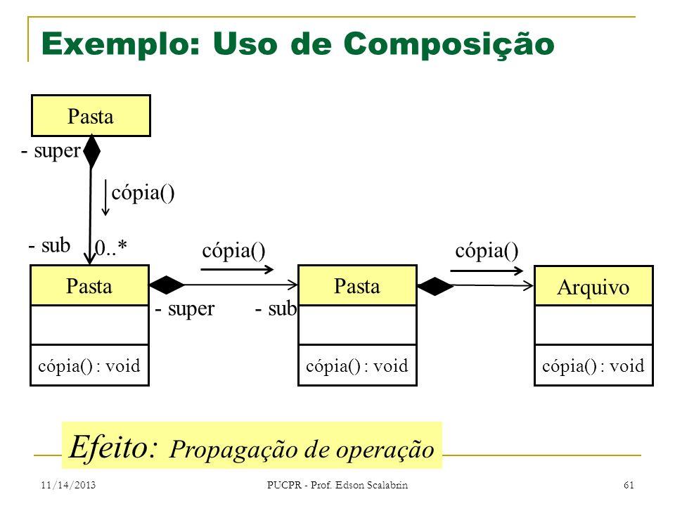 Exemplo: Uso de Composição