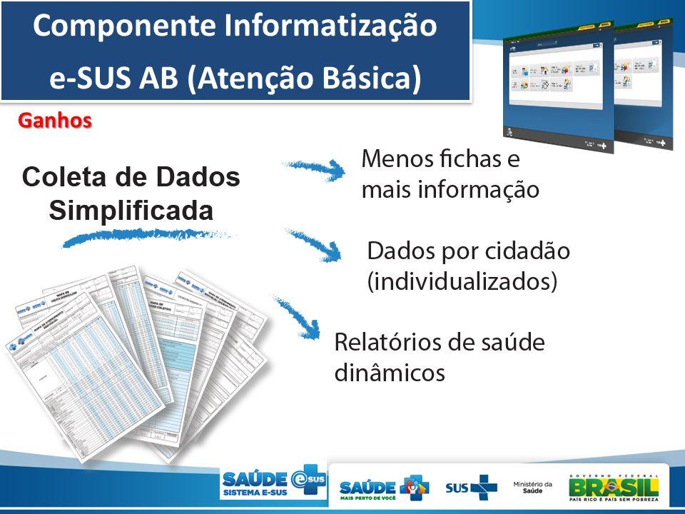 Componente Informatização e-SUS AB (Atenção Básica)