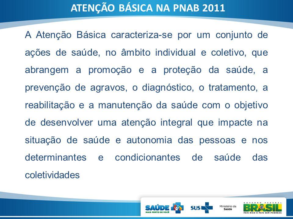 ATENÇÃO BÁSICA NA PNAB 2011