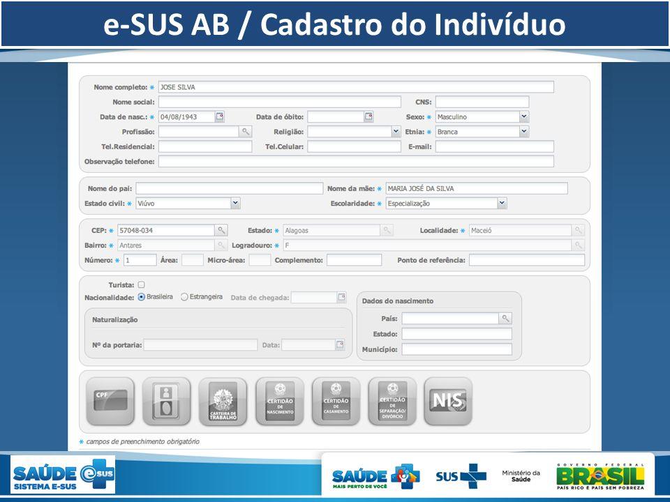 e-SUS AB / Cadastro do Indivíduo