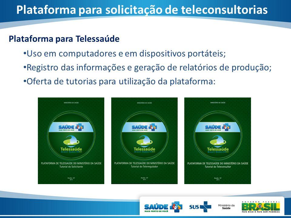 Plataforma para solicitação de teleconsultorias