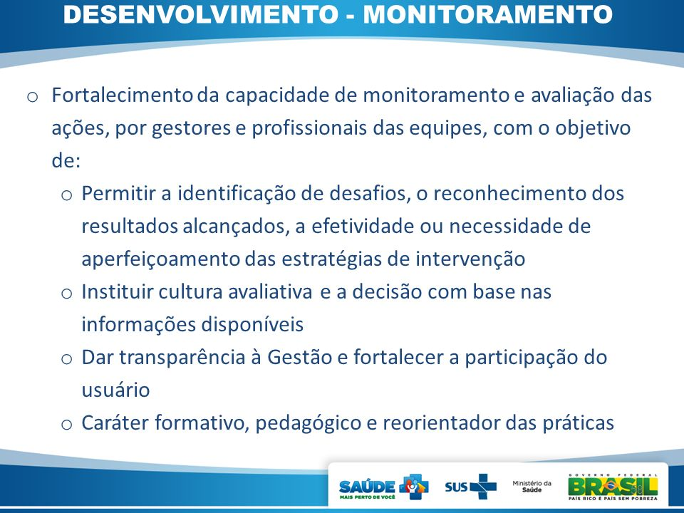 DESENVOLVIMENTO - MONITORAMENTO
