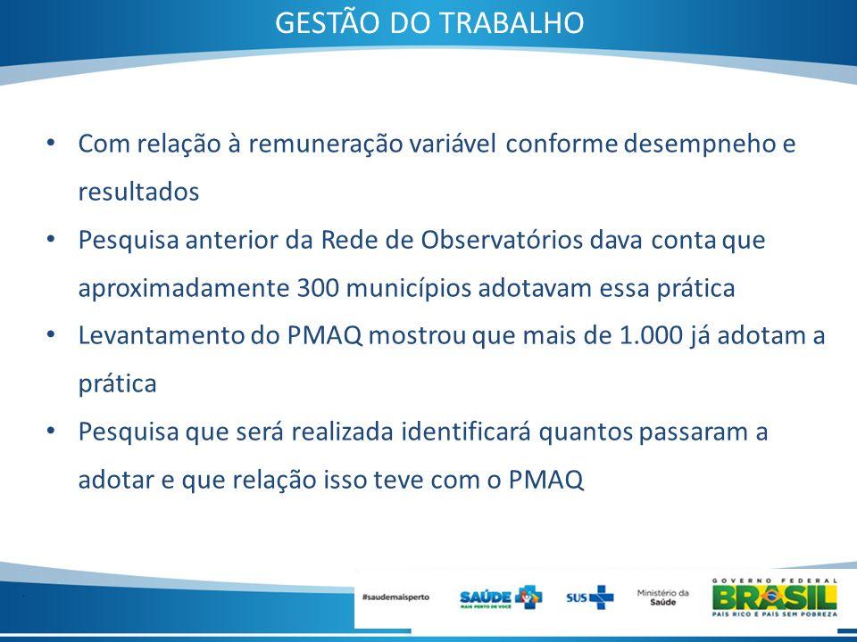 GESTÃO DO TRABALHOCom relação à remuneração variável conforme desempneho e resultados.