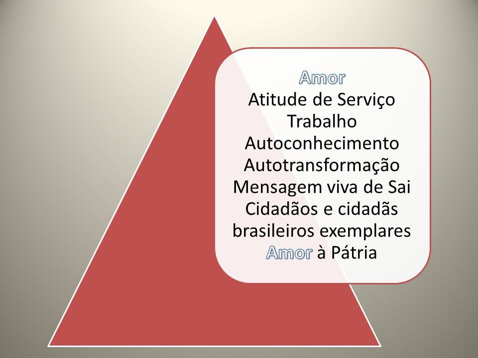 Amor Atitude de Serviço Trabalho Autoconhecimento Autotransformação Mensagem viva de Sai Cidadãos e cidadãs brasileiros exemplares Amor à Pátria