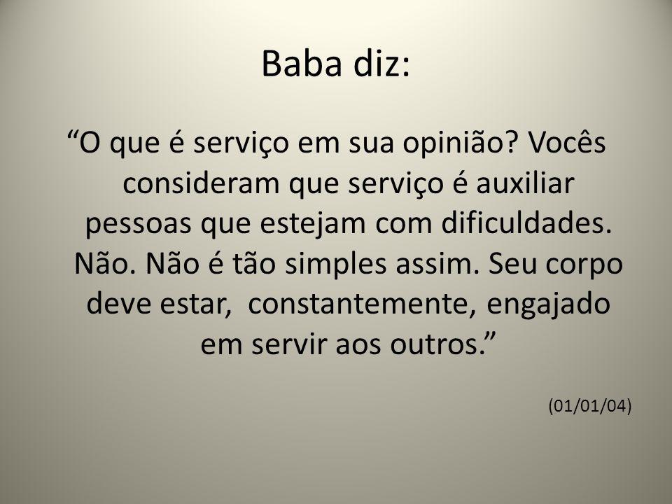 Baba diz: