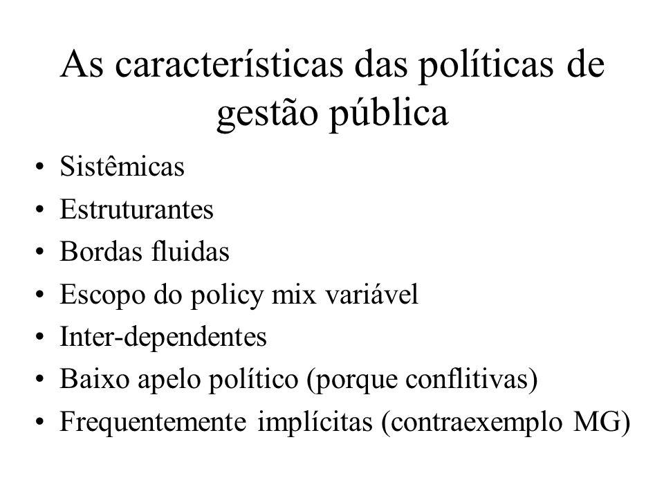 As características das políticas de gestão pública