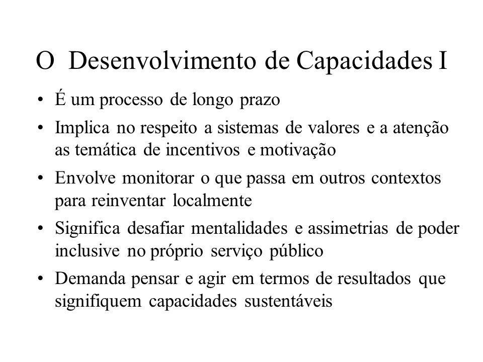 O Desenvolvimento de Capacidades I