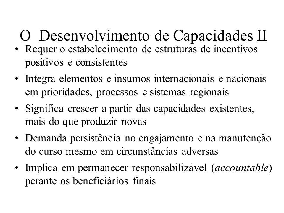 O Desenvolvimento de Capacidades II